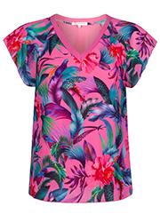 Roze Top met Tropische Print