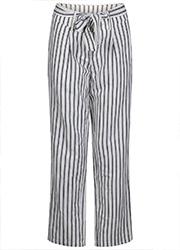 Gestreepte Linnen Pantalon