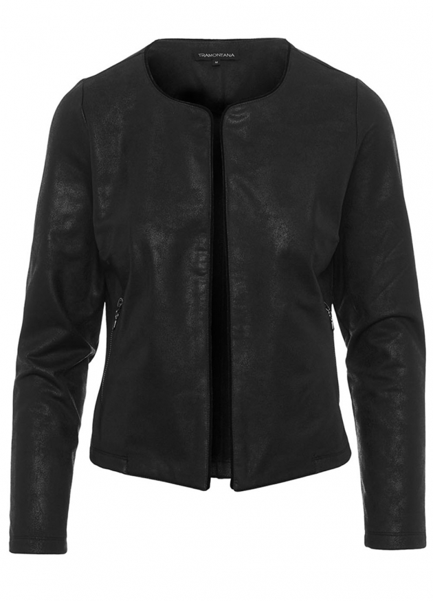 Tramontana-Coated Suedine Jacket-Q03-88-802