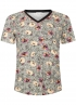 Tramontana-Animal T-shirt met Bloemenprint-D27-94-402-0