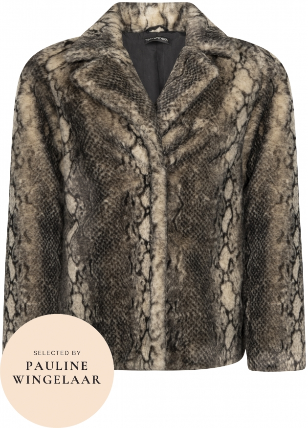 Tramontana-Snake Fake Fur Jacket-O01-96-901