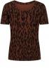 Tramontana-T-Shirt met Ikat Print-D06-98-402-0