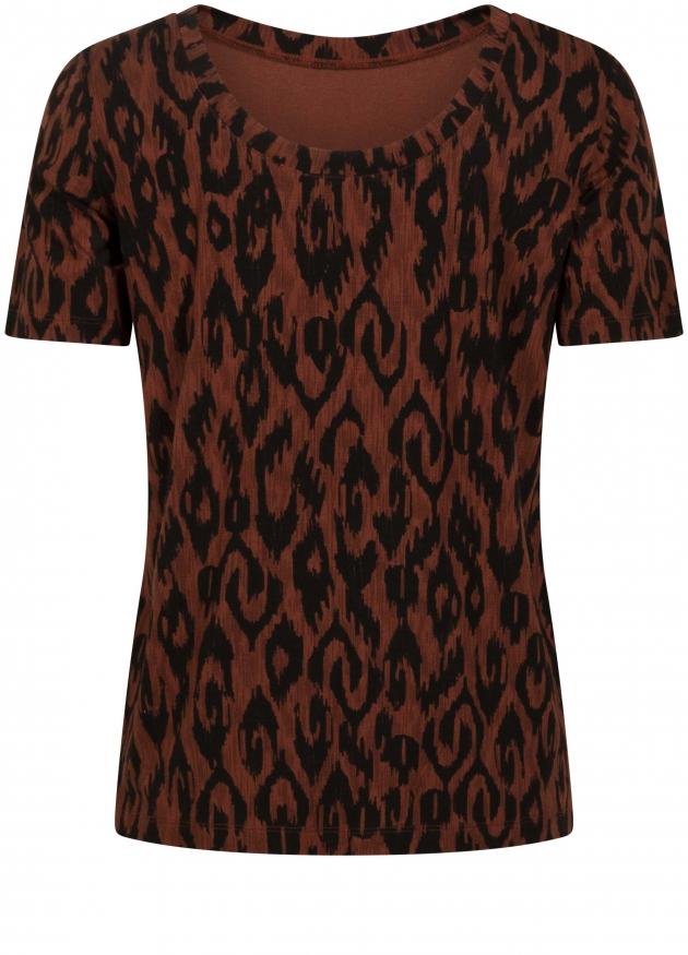 Tramontana-T-Shirt met Ikat Print-D06-98-402