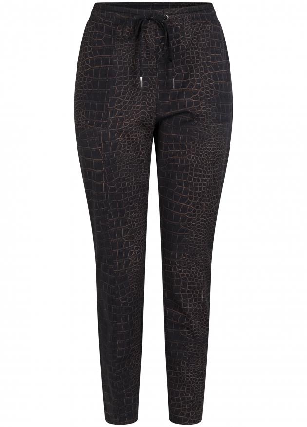 Tramontana-Travel Pantalon met Croco Print-Q02-98-101