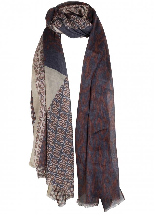 Tramontana-Sjaal met Graphic Print-I03-98-001