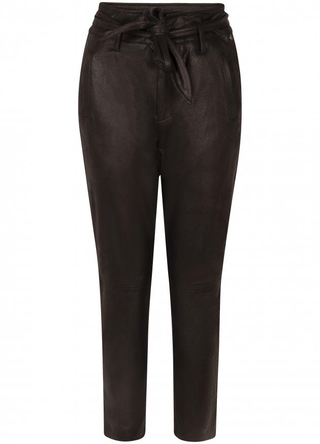 Tramontana-Coated Suedine Pantalon-Q01-98-101