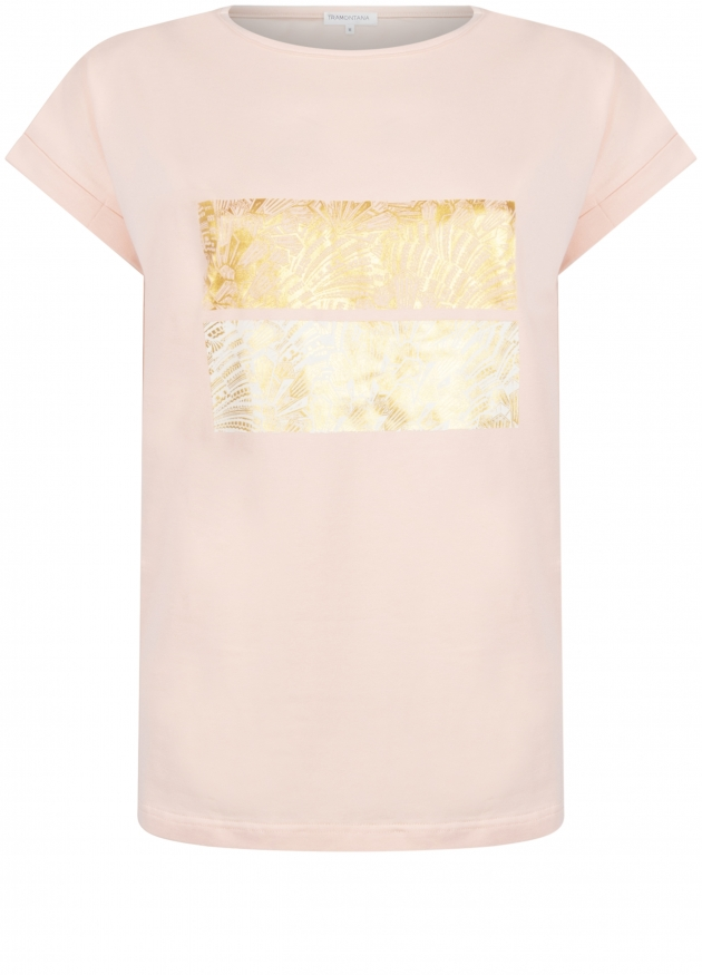 Tramontana-T-Shirt met Art Deco Print-Q26-98-403