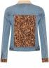Tramontana-Jeans Jacket met Suedine Mix-Q07-01-801-4