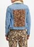 Tramontana-Jeans Jacket met Suedine Mix-Q07-01-801-2