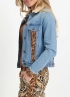 Tramontana-Jeans Jacket met Suedine Mix-Q07-01-801-1