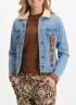 Tramontana-Jeans Jacket met Suedine Mix-Q07-01-801-0